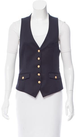 Boy By Band Of Outsiders V-Neck Button-Up Vest