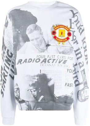 MSGM Racing-Print Sweatshirt
