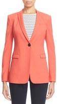 Armani Collezioni Women's Textured Stretch Wool One-Button Jacket