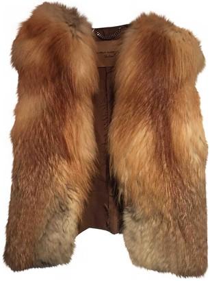 Daniele Alessandrini Red Fox Leather Jacket for Women