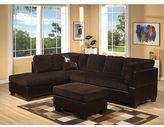 Acme Connell Corduroy/ Espresso Sectional Sofa