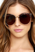 LuLu*s X-Ray Edition Gold and Tortoise Sunglasses