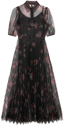 High Captivate Floral-print Organza Midi Dress