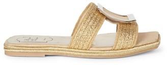 Roger Vivier Bikiviv Woven Metallic Flat Sandals
