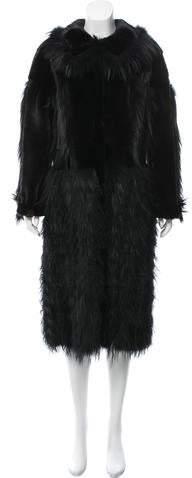 Oscar de la Renta Mink & Fox Fur Coat w/ Tags