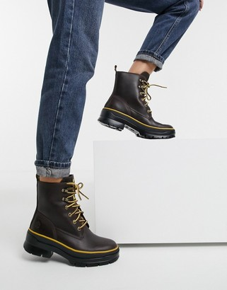 Timberland Malynn Mid Lace EK+ chunky lace-up boots in brown