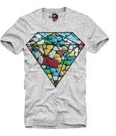 E1syndicate T-Shirt Xtc Ecstasy Diamond Party Rave Techno Lsd Mdma Grey S/M/L/Xl