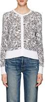 Thom Browne WOMEN'S FLORAL COTTON CARDIGAN