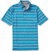 Bobby Jones Golf XH2O Wren Heather Striped Stretch Jersey Short-Sleeve Polo Shirt