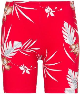 Paco Rabanne floral print logo cycling shorts