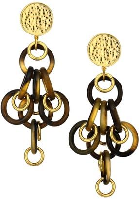 Nest Mixed Horn & Link Earrings