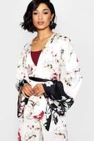 boohoo Mollie Boutique Floral Occasion Kimono Blazer