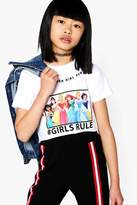boohoo Girls Disney Princess tGirls Rule Cropped Tee