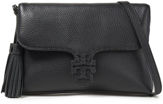 Tory Burch Mcgraw Tasseled Pebbled-leather Shoulder Bag