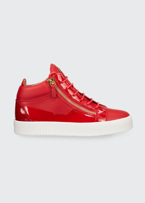 Giuseppe Zanotti Men's Kriss Leather Mid-Top Sneakers