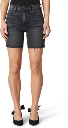 Hudson Hana Raw Hem Denim Biker Shorts