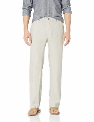 Amazon Brand - 28 Palms Relaxed-Fit Linen Pant with Drawstring Casual