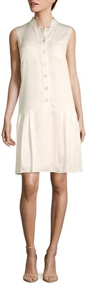 Lafayette 148 New York Minka Sleeveless Drop-Waist Dress