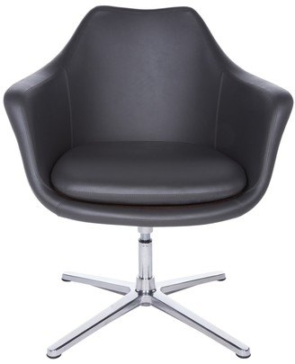 Euro Style Giovana Grey Faux Leather Lounge Chair