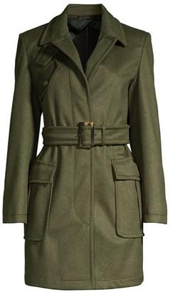 Max Mara Angri Wool Blend Military Coat