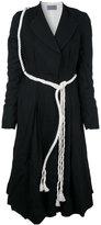 Elena Dawson - belted coat - women - Wool - S