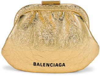 Balenciaga Cloud Coin Purse in Gold | FWRD
