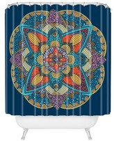 """DENY Designs Valentina Ramos Peony in Blue Shower Curtain by 71""""x74"""")"""