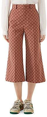 Gucci Women's GG Canvas Cropped Culottes