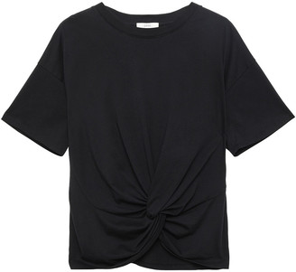 Joie Kumie Twist-front Pima Cotton-jersey T-shirt