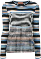Missoni striped longsleeved knitted blouse - women - Nylon/Polyester/Viscose/Wool - 40