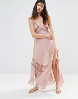 The Jetset Diaries Las Perlas Embroidered Slip Dress