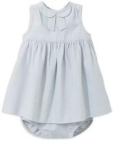 Jacadi Girls' Striped Poplin Dress and Bloomer Set - Baby