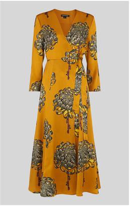 Whistles Gabrielle Silk Wrap Dress