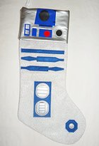 Disney Star Wars R2D2 Christmas Stocking silver 18 (Silver/Blue)