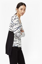 French Connection Tapir Wave Pleated Back Blouse
