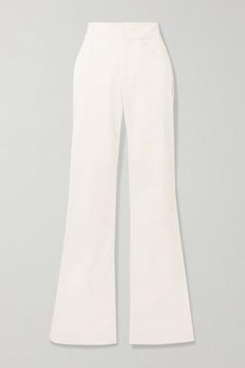 Johanna Ortiz Coco De Indias Stretch-cotton Straight-leg Pants - Cream