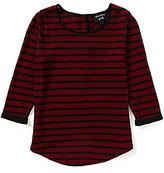 Blu Pepper Big Girls 7-16 Striped Bow-Back Top