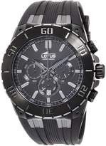 Lotus R Men's Quartz Watch with Dial Chronograph Display and Rubber Strap 15803/1