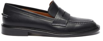 ATP ATELIER Monti' contrast stitching leather loafers