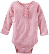 Osh Kosh Sparkle Knit Bodysuit (Baby) - Heather-18 Months