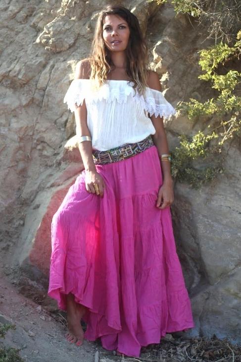 Jens Pirate Booty Rambla Skirt in Pink Sky