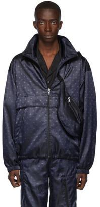 Alexander Wang Navy Monogram Windbreaker Jacket
