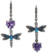 Betsey Johnson Fall Critters Dragon Fly Cz Mis Match Earring