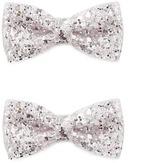 Forever 21 FOREVER 21+ Glitter Bow Hair Clip Set