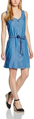 Cross Jeanswear Co. Cross Jeans Women's Denim Dress Short Sleeve Cover Up - - 12 (Manufacturer Size: L)