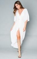 MUMU Get Twisted Maxi Dress ~ White Cloud