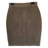 Gianni Versace Green Silk Skirt for Women Vintage