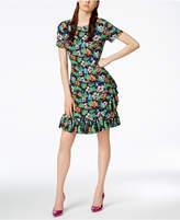 Love Moschino Ruffled Printed Dress