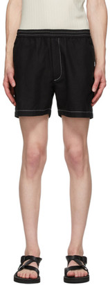 Second/Layer Black Boxer Shorts