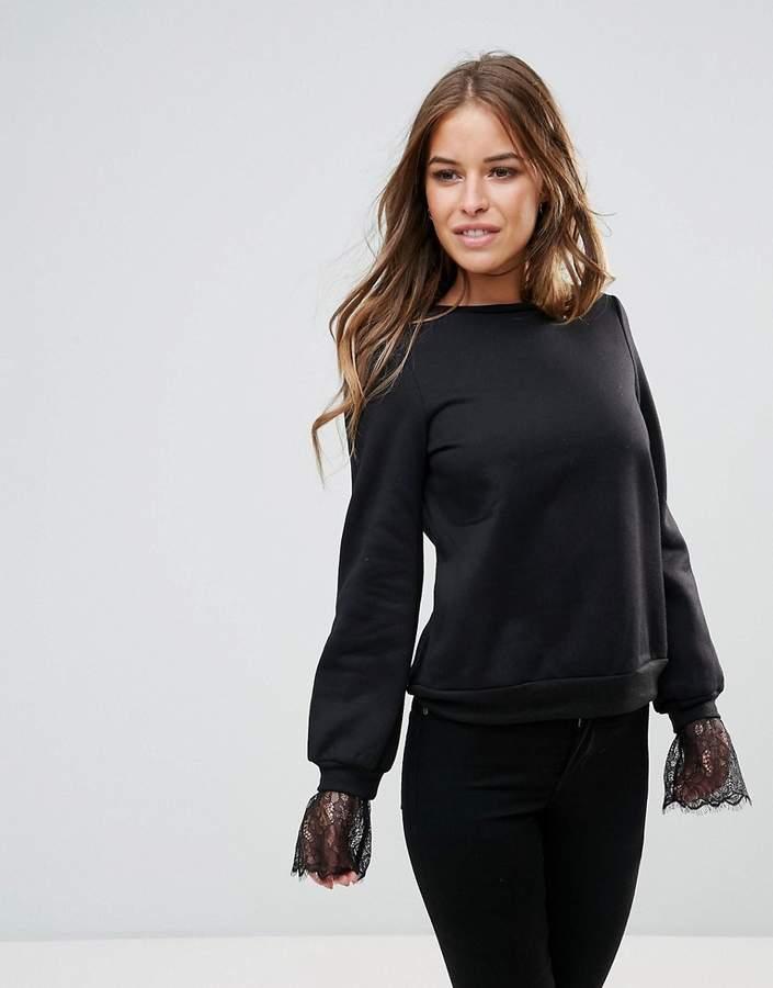 Vero Moda Lace Detail Sweatshirt